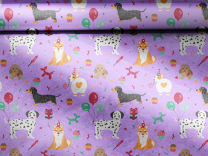 dog wrapping paper birthday