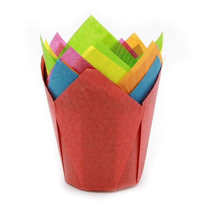 Tulip Paper Baking Cups Extra Large Size High Peak 3 3 4