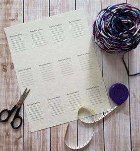 Snarky Double Sided Knitting Quote Gift Tag With Blank Care Instructions - PDF File Only - Instant Download
