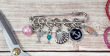Load image into Gallery viewer, Snag Free Beach Themed Stitch Markers