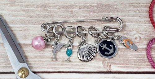 Snag Free Beach Themed Stitch Markers