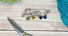 Load image into Gallery viewer, Round Gemstone Stitch Markers (Smaller Set)