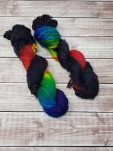 Load image into Gallery viewer, Midnight Prism (Seconds) - DK Weight - Hand Dyed Yarn