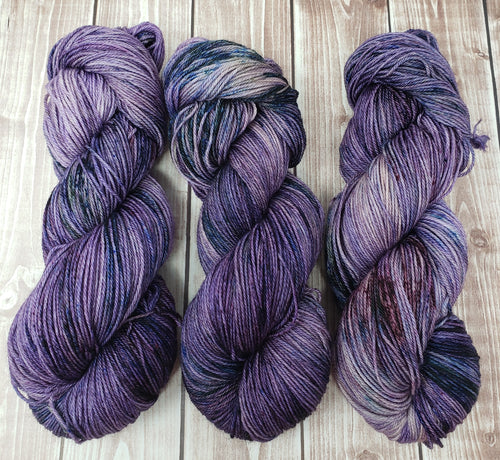 Smashed Blueberries - Sock/Fingering Weight - Hand Dyed Yarn