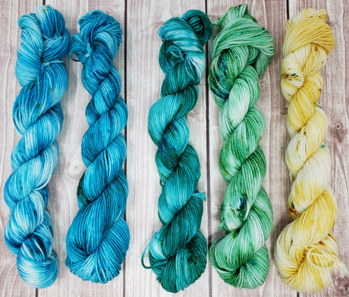 Summer's Day Mini Skein Set - Sock/Fingering Weight - Hand Dyed Yarn