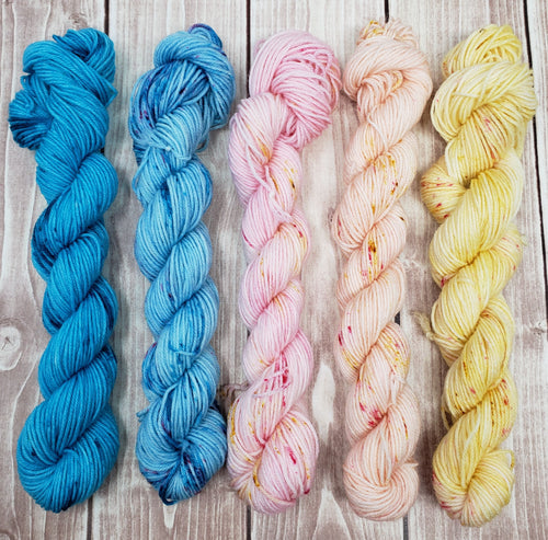 But Debbie.....Pastels? Mini Skein Set - Sock/Fingering Weight - Hand Dyed Yarn