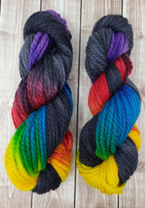 Midnight Prism - Sock/Fingering - DK Weight - Worsted - Bulky - Super Bulky - Hand Dyed Yarn