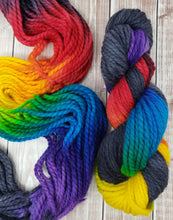 Load image into Gallery viewer, Midnight Prism - Sock/Fingering - DK Weight - Worsted - Bulky - Super Bulky - Hand Dyed Yarn