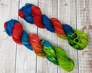 Casanova Kasey - Sock/Fingering - DK Weight - Worsted - Hand Dyed Yarn