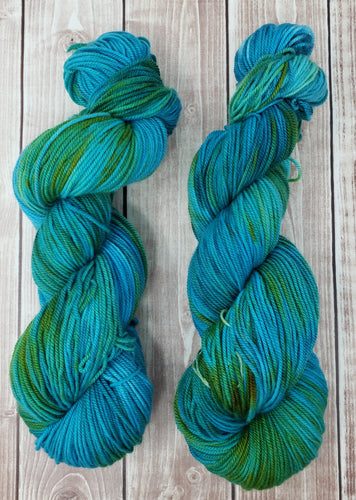 Mermaid - Sock/Fingering - Sport - DK Weight - Worsted - Hand Dyed Yarn