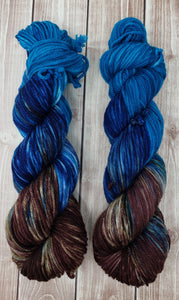 Cowboy - Sock/Fingering  - DK Weight - Worsted - Hand Dyed Yarn