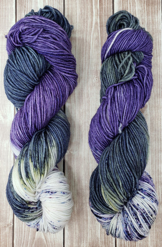 Purple Mountains Majesty - Sock/Fingering - DK Weight - Worsted - Hand Dyed Yarn