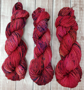 Burn - Sock/Fingering  - DK Weight - Hand Dyed Yarn