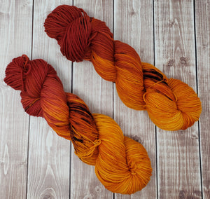 Autumn Pathway - Fingering - Bamboo Sock - DK Weight - Worsted - Bulky - Super Bulky - Hand Dyed Yarn