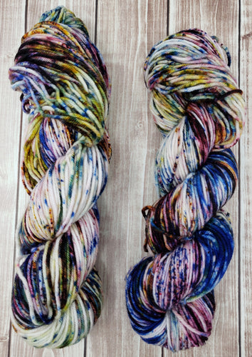 Anxiety - Bamboo Blend Sock - Fingering - DK Weight - Hand Dyed Yarn
