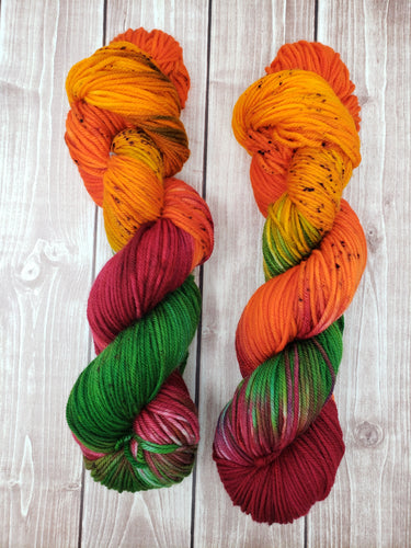 Falling Leaves - Fingering - Bamboo Sock - DK Weight - Worsted - Bulky - Super Bulky - Hand Dyed Yarn