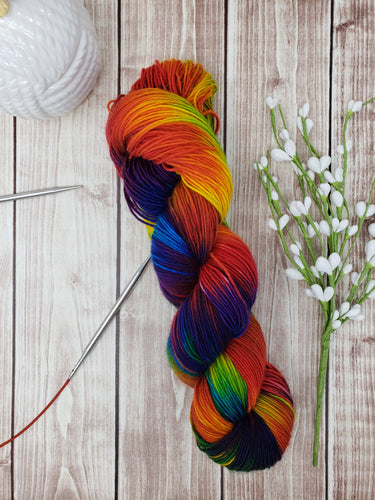 Rainbows - Fingering - Hand Dyed Yarn