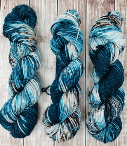 Bayou Blues - Fingering - DK Weight - Hand Dyed Yarn