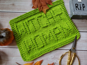 Witchy Woman Dishcloth