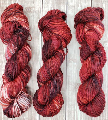 Redrum - Sock/Fingering - DK Weight - Bulky - Super Bulky - Hand Dyed Yarn