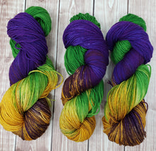 Load image into Gallery viewer, Mardi Gras -Sock/Fingering - DK Weight - Sport - Bulky - Super Bulky - Hand Dyed Yarn