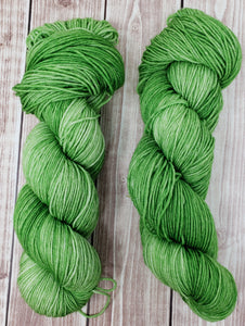 Sour Apple - Sock/Fingering - DK Weight - Hand Dyed Yarn