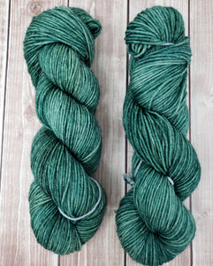 Forest Green - Sock/Fingering - DK Weight - Hand Dyed Yarn