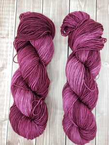 Plum Dandy - Sock/Fingering - DK Weight - Hand Dyed Yarn