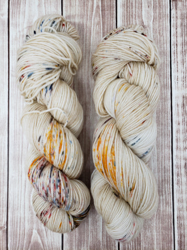 Oatmeal Sprinkle - Sock/Fingering - DK Weight - Worsted - Bulky - Hand Dyed Yarn