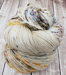 Oatmeal Sprinkle - Sock/Fingering - DK Weight - Hand Dyed Yarn
