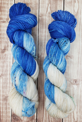 Icy Heart - Sock/Fingering - DK Weight - Worsted -  Bulky - Hand Dyed Yarn
