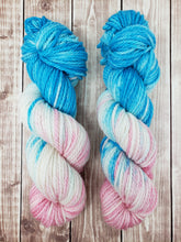 Load image into Gallery viewer, Cotton Candy - Sock/Fingering - DK Weight - Worsted -  Bulky - Super Bulky - Hand Dyed Yarn