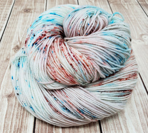 Pacific Beach- Sock/Fingering - DK Weight - Worsted - Hand Dyed Yarn