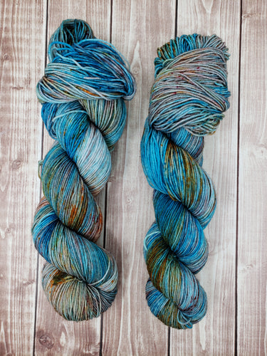 Mountain Bluebird - Sock/Fingering - DK Weight - Worsted - Bulky - Super Bulky - Hand Dyed Yarn