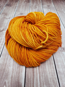 Orange Marmalade - Sock/Fingering - DK Weight - Bulky - Super Bulky - Hand Dyed Yarn