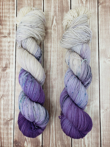 Purple Rain - Sock/Fingering - DK Weight - Worsted - Bulky - Hand Dyed Yarn