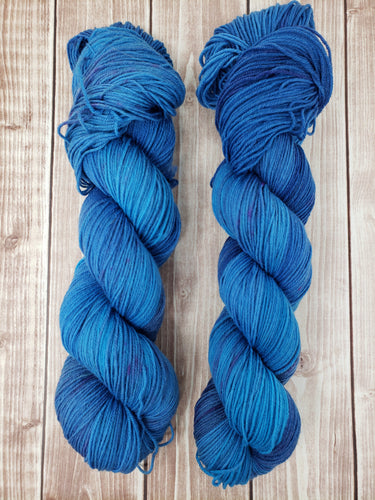Lonely is the Night - Sock/Fingering - DK Weight - Worsted - Hand Dyed Yarn