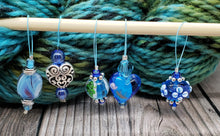 Load image into Gallery viewer, Blue Stitch Marker Set - Set 2