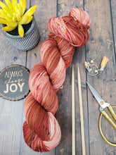 Load image into Gallery viewer, Peach Pit - Sock/Fingering - DK Weight - Worsted - Hand Dyed Yarn