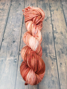 Peach Pit - Sock/Fingering - DK Weight - Worsted - Hand Dyed Yarn