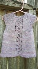 Load image into Gallery viewer, Hand Knit Newborn Baby Girl Dress - Coming Home Outfit - 0 to 3 Month Clothes