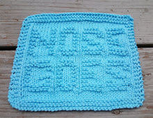 Load image into Gallery viewer, Environmentally Friendly - Blue Nose Goes Knitted Dishcloth - Cotton Kitchen Dish Cloth -  Modern Kitchen Decor