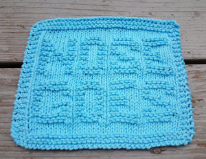 Environmentally Friendly - Blue Nose Goes Knitted Dishcloth - Cotton Kitchen Dish Cloth -  Modern Kitchen Decor