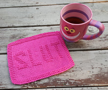 Load image into Gallery viewer, Cotton Kitchen Dish Cloth - Pink Slut Knitted Dishcloth - Environmentally Friendly - Modern Kitchen Decor