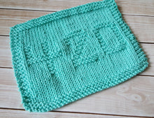 Load image into Gallery viewer, Environmentally Friendly - Green 420 Knitted Dishcloth - Cotton Kitchen Dish Cloth -  Modern Kitchen Decor