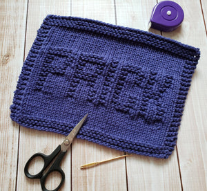 Blue Prick Hand Knit Cotton Dishcloth - Environmentally Friendly - Adult Humor