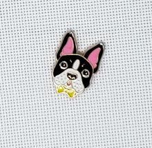 Load image into Gallery viewer, Dog With Bow Tie Needle Minder - Cross-Stitch Needle Holder - Magnetic Needle Nanny