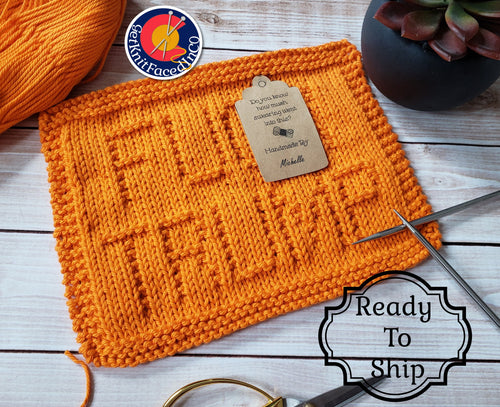 Orange F* Trump Dishcloth - Cotton Kitchen Dish Cloth - Adult Humor - Fuck Trump Washcloth