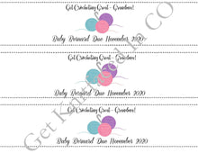 Load image into Gallery viewer, Custom Printable Pregnancy Announcement Label - Get Crocheting Great Grandma - PDF File Only
