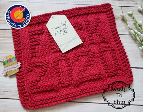 Red F*ck 2020 Dishcloth - Eco Friendly Cloth - Hand Knit Wash Cloth - Fuck 2020